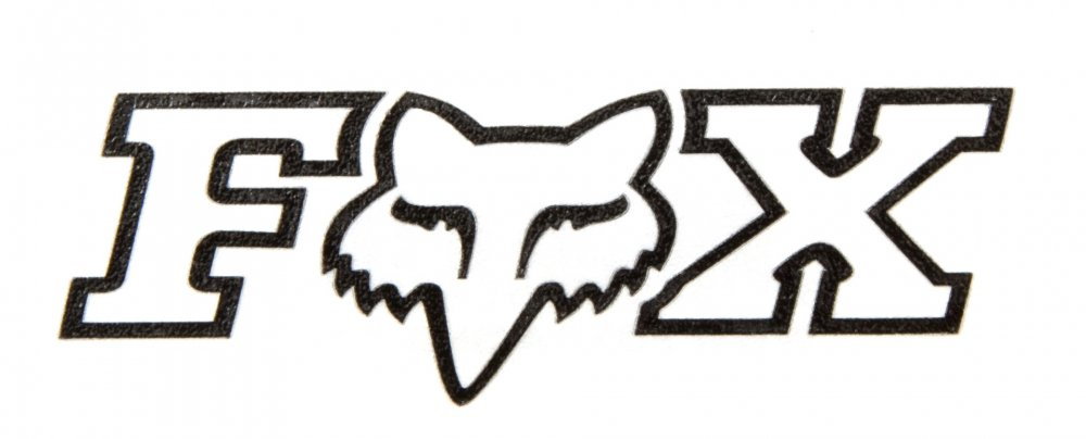Fox Sticker Corporate 7,5cm Schwarz