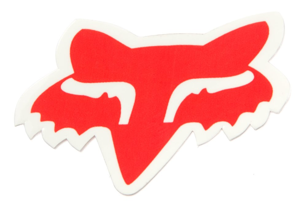 Fox Sticker Fox Head 5cm Rot