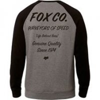 Fox Resin Crew Pullover Grau