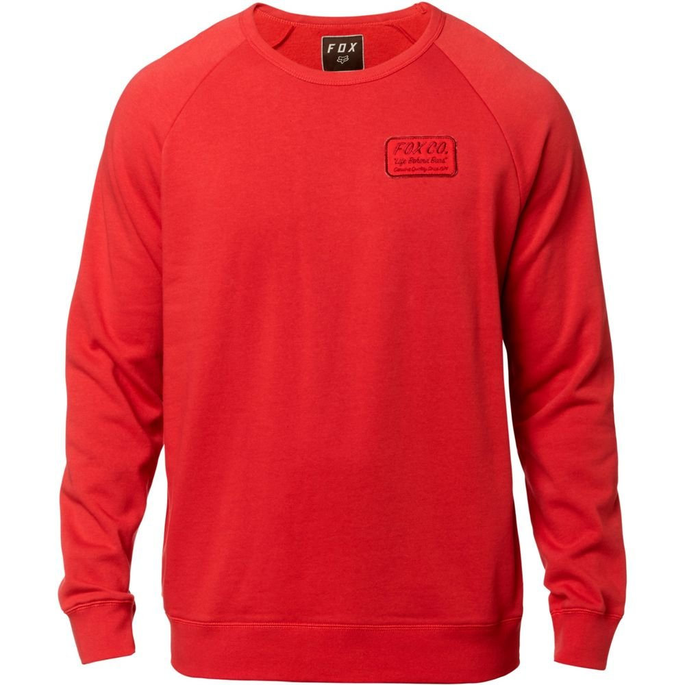 Fox Resin Crew Pullover Rot