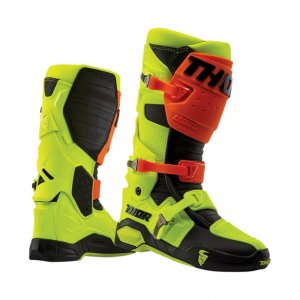 Thor Motocross-Stiefel Radial Orange/Neongelb