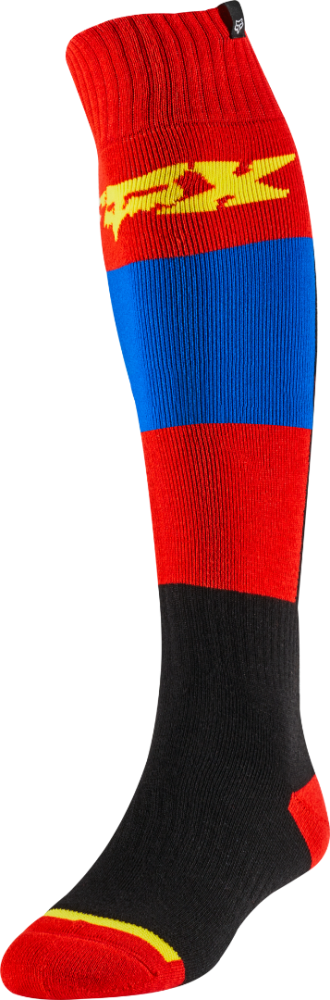 Fox Fri Thin Linc MX Socken Blau/Rot