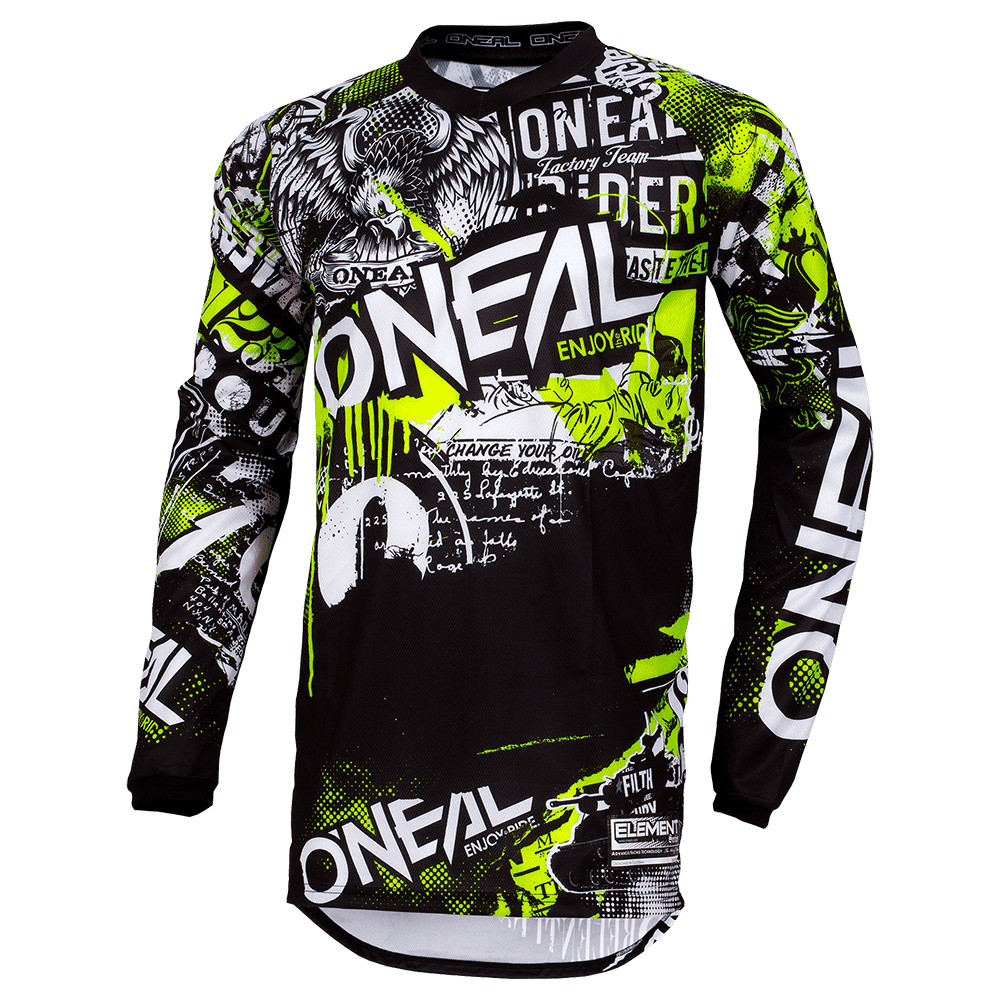ELEMENT Youth Jersey ATTACK black/neon yellow S