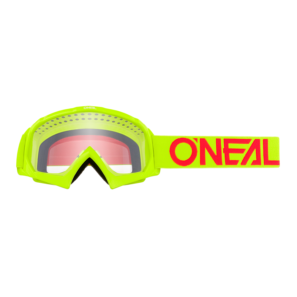 B-10 Youth Goggle SOLID neon yellow/red