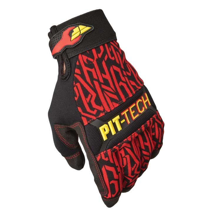 Fly Racing Handschuhe Mec Pit Tech Pro rot 2XL